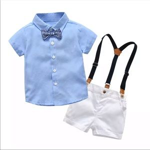 Other - 2 Piece Bow & Overall Set